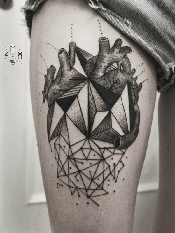 Genius Geometry Tattoo Ideas to Try This Year (124)