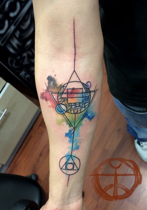 Genius Geometry Tattoo Ideas to Try This Year (136)
