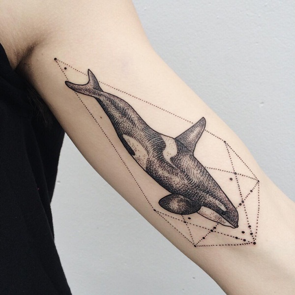 Genius Geometry Tattoo Ideas to Try This Year (60)