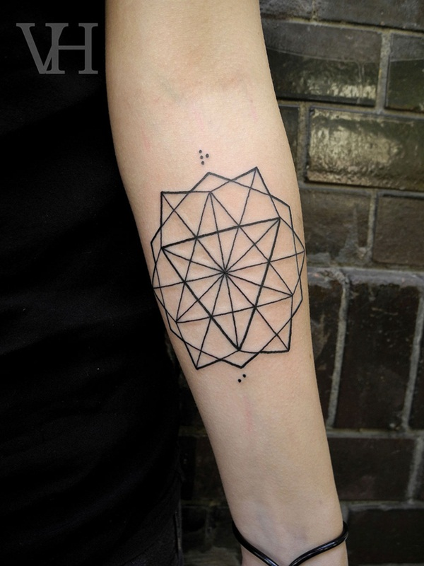 Genius Geometry Tattoo Ideas to Try This Year (76)