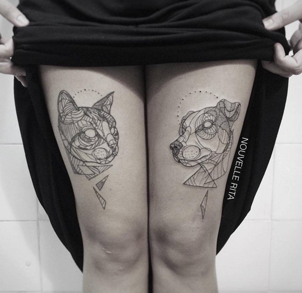 Genius Geometry Tattoo Ideas to Try This Year (84)
