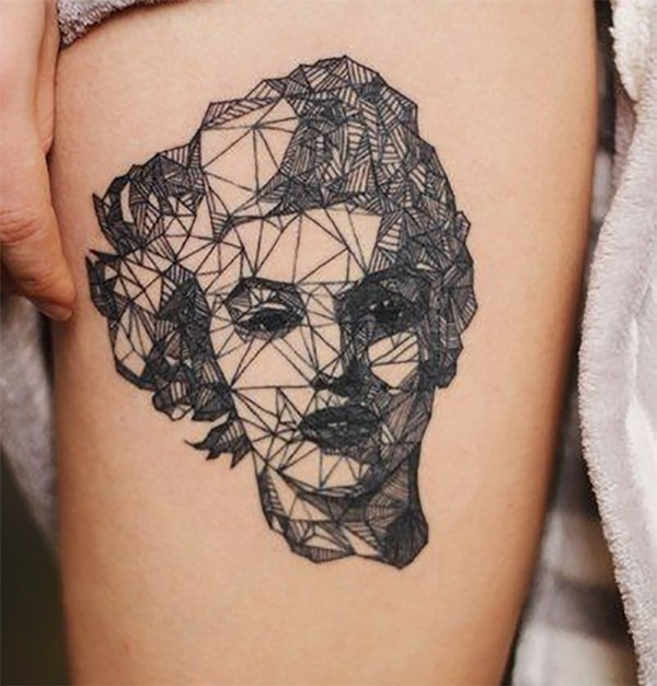 Genius Geometry Tattoo Ideas to Try This Year (89)