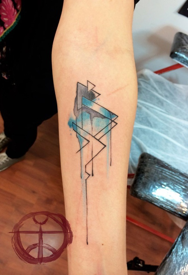 Genius Geometry Tattoo Ideas to Try This Year (92)