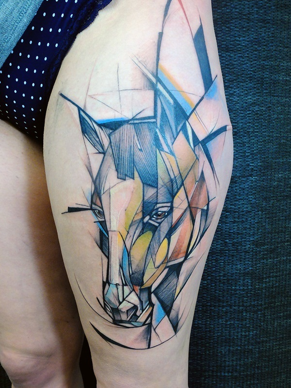Genius Geometry Tattoo Ideas to Try This Year (95)