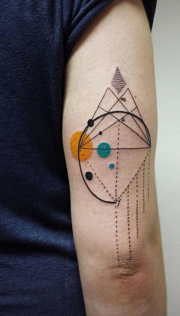 Genius Geometry Tattoo Ideas to Try This Year (98)