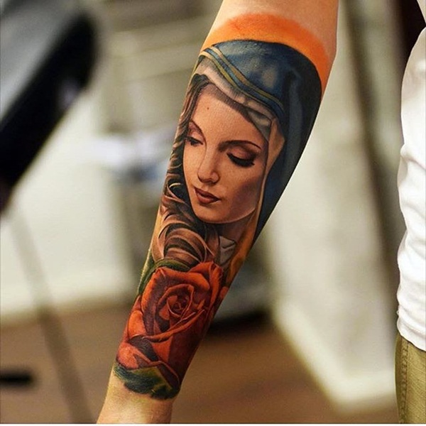43065ca36 Powerful religious tattoo Designs to Try (18). Probably the most gorgeous  portrait of ...