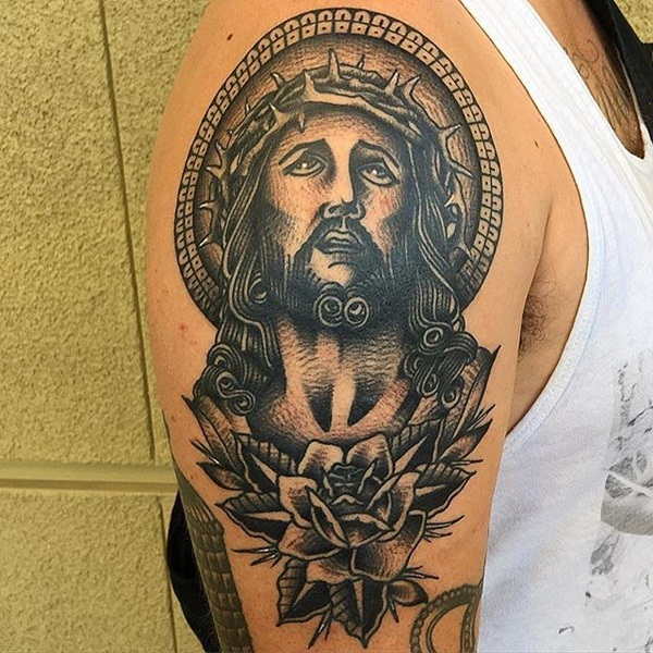 1d0959381 A traditional vision of Jesus. Powerful religious tattoo Designs ...