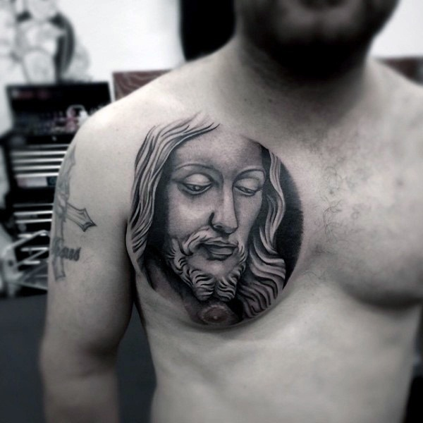 18231fcea Realism applied on Jesus Christ. Powerful religious tattoo Designs ...