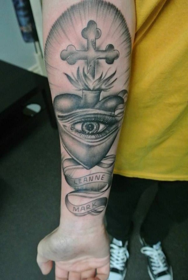 80 ways to express your faith with a religious tattoo for Cross tattoo under left eye meaning