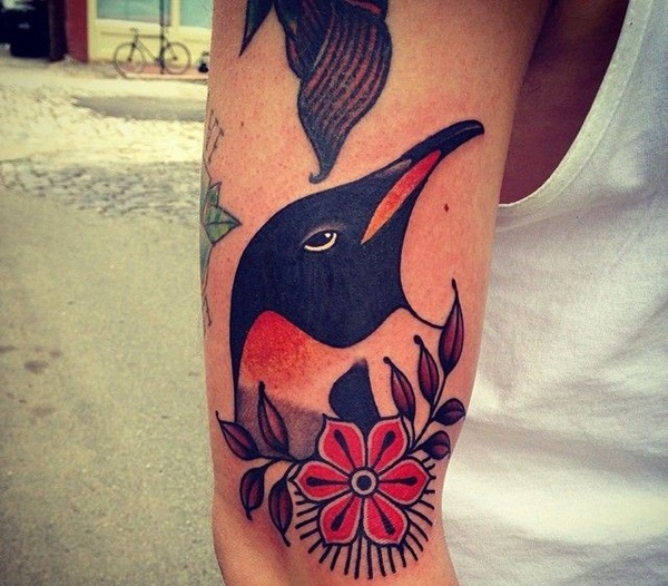 Adorable Penguin tattoo Designs (22)