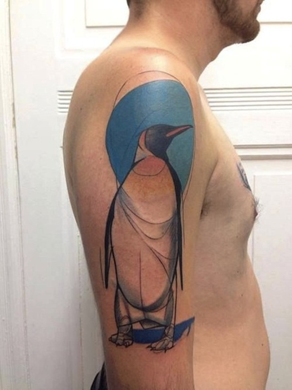 Adorable Penguin tattoo Designs (44)