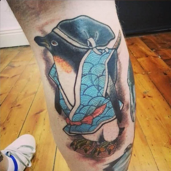 Adorable Penguin tattoo Designs (70)