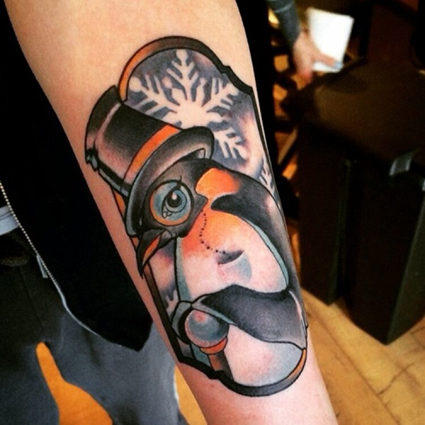 Adorable Penguin tattoo Designs (85)