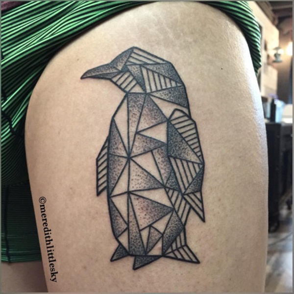 Adorable Penguin tattoo Designs (86)