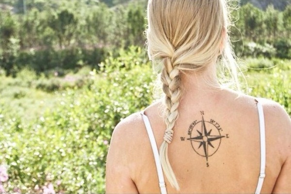 Artisticly Rich Compass Tattoo Designs (13)