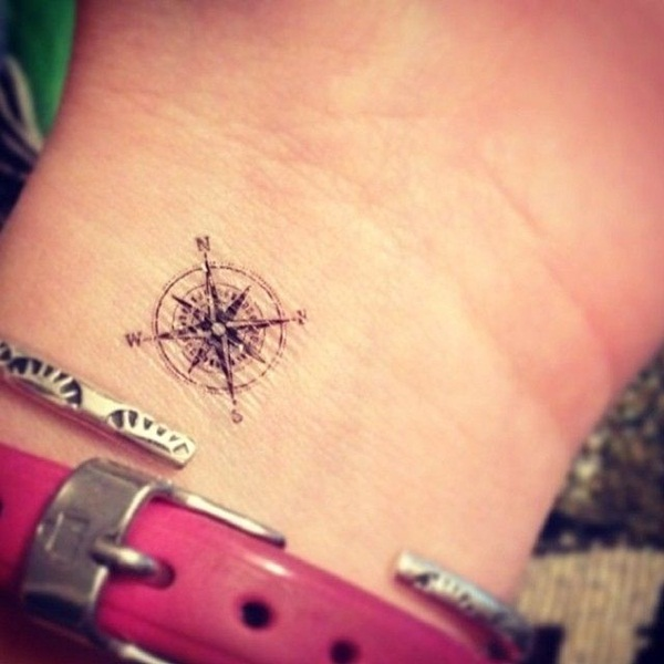 Artisticly Rich Compass Tattoo Designs (16)