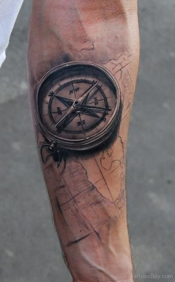 Artisticly Rich Compass Tattoo Designs (18)