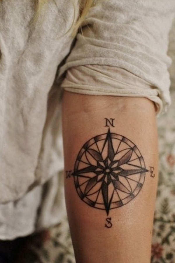 Artisticly Rich Compass Tattoo Designs (20)