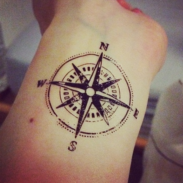 Artisticly Rich Compass Tattoo Designs (26)