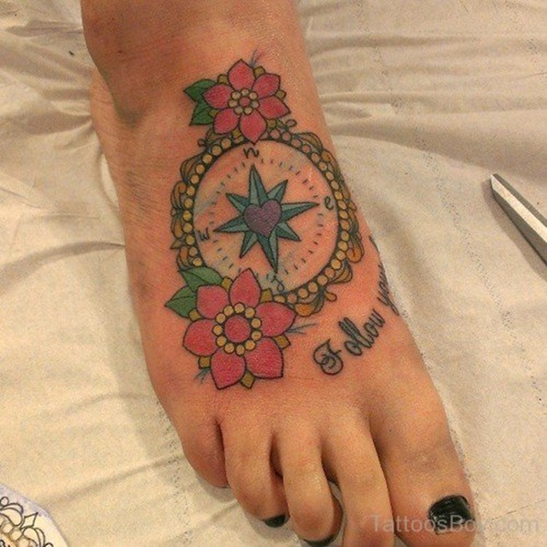 Artisticly Rich Compass Tattoo Designs (3)