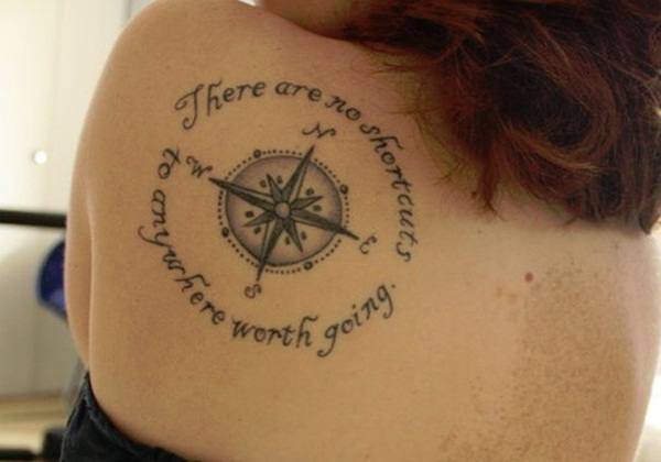 Artisticly Rich Compass Tattoo Designs (40)