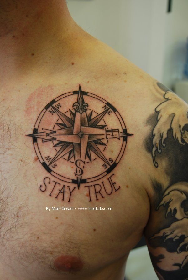 Artisticly Rich Compass Tattoo Designs (6)