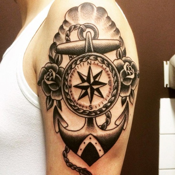 Artisticly Rich Compass Tattoo Designs (7)