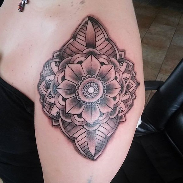 Insanely Deep and Positive lotus mandala Tattoo Arts (10)