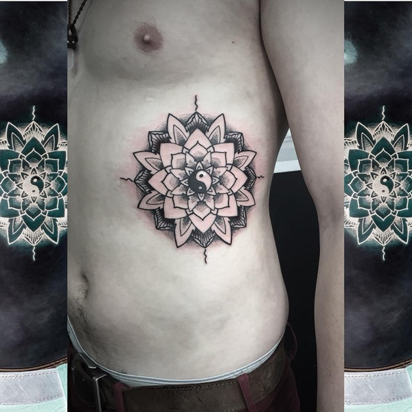 Insanely Deep and Positive lotus mandala Tattoo Arts (57)