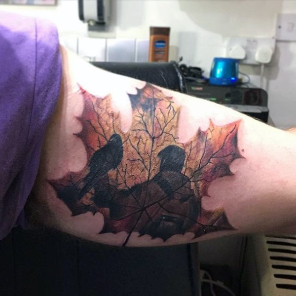 Unforgettable Leaf tattoo Designs (17)