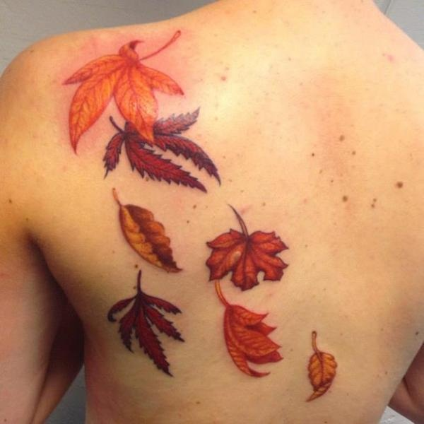 Unforgettable Leaf tattoo Designs (58)