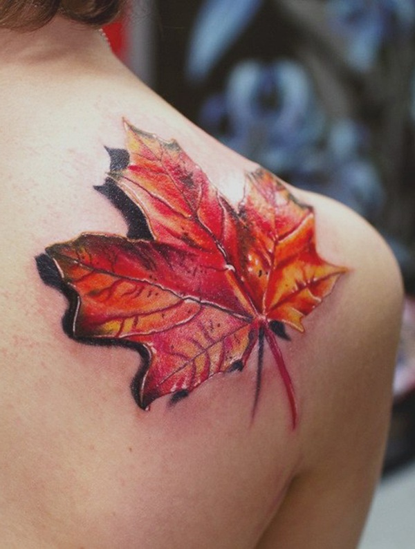 Unforgettable Leaf tattoo Designs (63)
