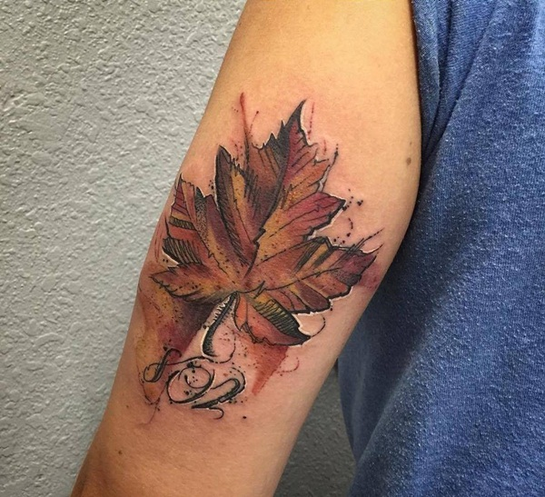 Unforgettable Leaf tattoo Designs (64)