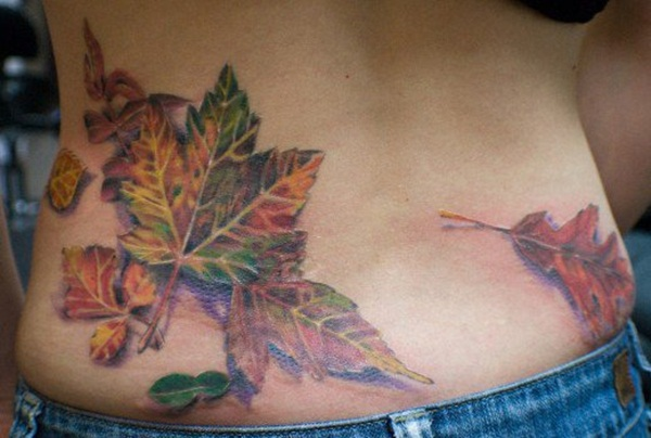 Unforgettable Leaf tattoo Designs (7)