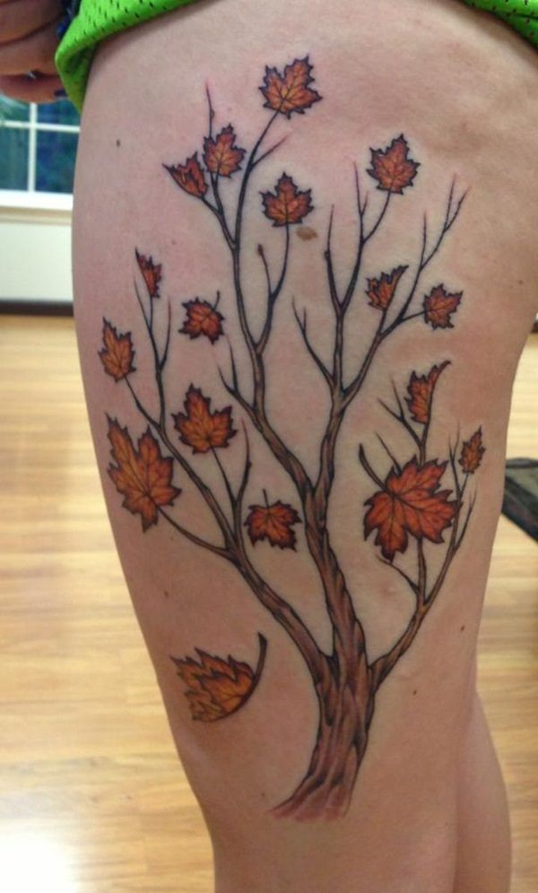 Unforgettable Leaf tattoo Designs (77)